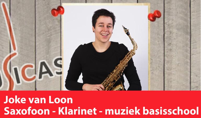 Joke van Loon <br>Saxofoon - Klarinet - Muziek op de basisschool